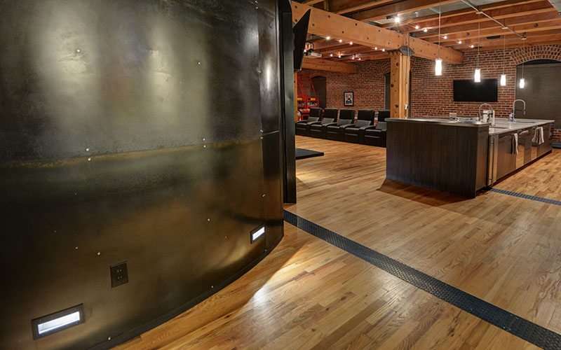 Custom home interiors in Denver, Colorado by Shike Design. Metal, wood and recycled materials. Custom Fabrication